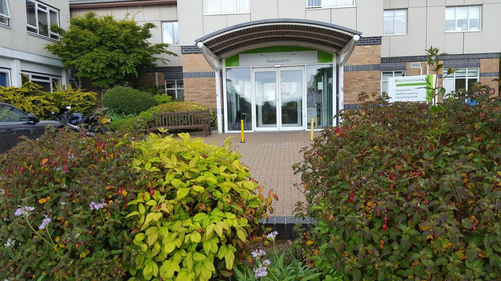 arriving at nuffield plymouth hospital